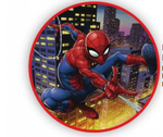 3 Ft Spider Man Round TNT Fabric Backdrop Wall Easy Setup