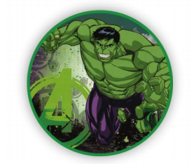 3 Ft  Hulk Round TNT Fabric Backdrop Wall Easy Setup