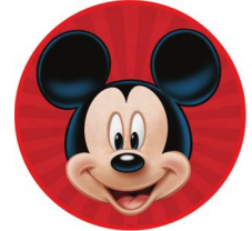 3 Ft Mickey Round TNT Fabric Backdrop Wall Easy Setup