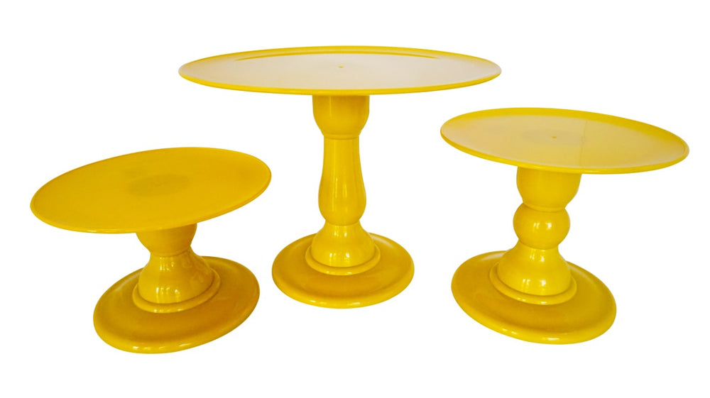 Yellow Mosaic Cake Holders - For Rent