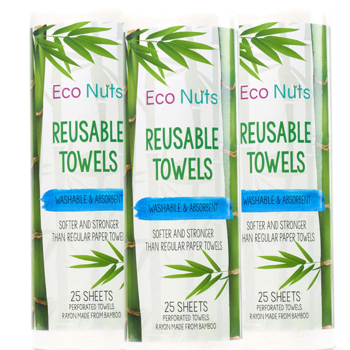 Eco Nuts Reusable Paper Towels - 3 Pack