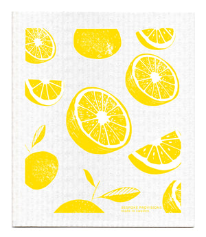 Lemons Swedish Dishcloth