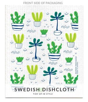 Potted Plants Swedish Dishcloth