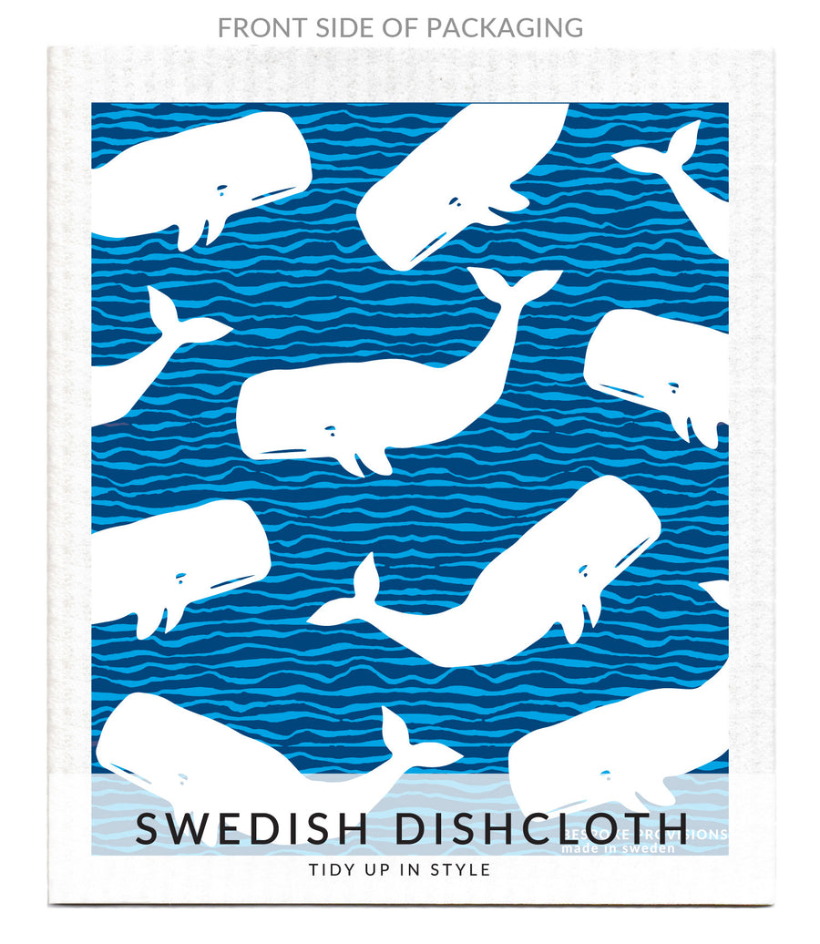 Whales Swedish Dishcloth