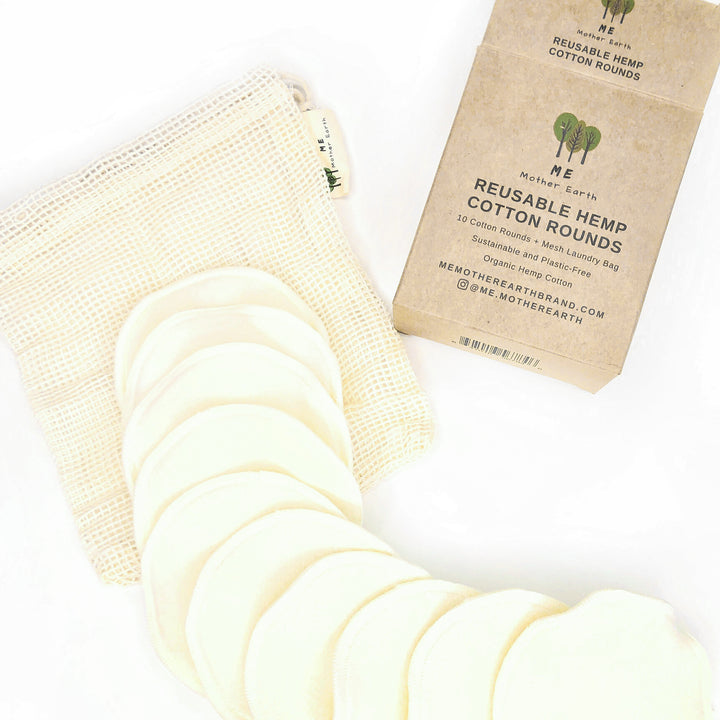 Reusable Hemp Cotton Rounds