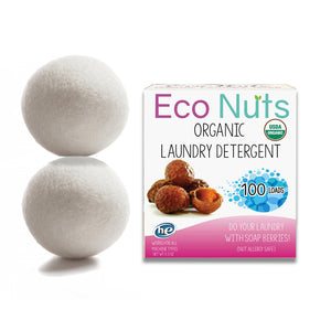 Eco Nuts Organic Soap Berries and 2 Dryer Balls
