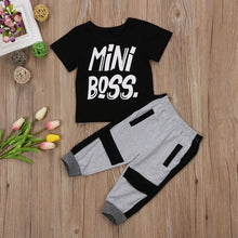 "Load image into Gallery viewer, Toddler Boys ""Mini Boss"" Pants Set"
