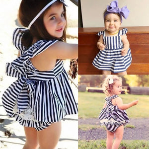 Baby Girls Stripe Dress Set