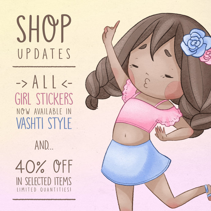 Shop Updates: New Vashti designs and discounted items!
