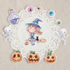 Die Cut Pack 11 pieces Cardboard or Sticker ~ Happy Halloween