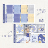 "Time Angel ~New Year's Eve Collection~ ""A la Carte"" Weekly Sticker Kit"