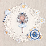 Die Cut Pack 8 pieces Cardboard or Sticker ~ Time Angel ~New Year's Eve Collection