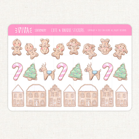 Sweet Christmas Decorative Stickers ~Gingerbread Decoration~