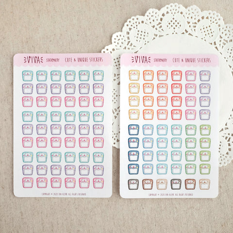 Mini Weighting Scale Stickers ~Multiple color options