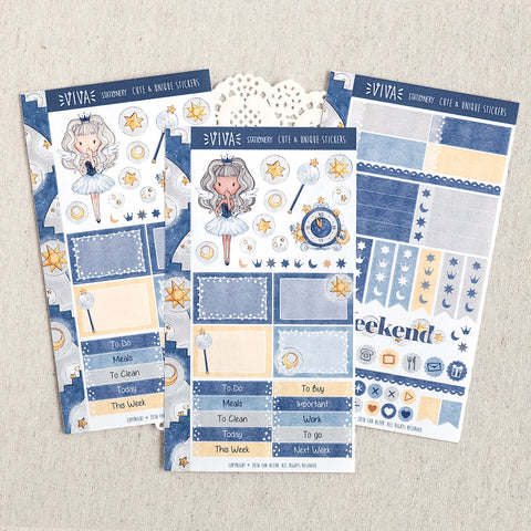 Time Angel ~ New Year's Eve Collection ~ Mini Sticker Kit for Planners ~