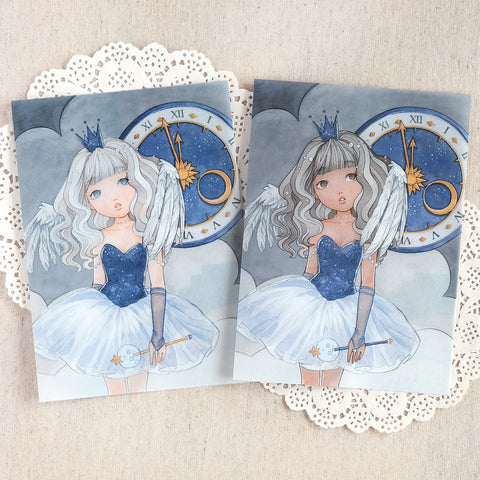 Time Angel ~ Printed Vellum for TNs and Ring Planners ~ New Year's Eve Collection