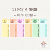 MINIMAL kits for Hobo Weeks Monthly view ~ Bundles and single sheets