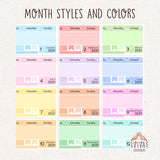 MINIMAL kits for Hobo Cousin A5 Monthly view ~ Bundles and single sheets