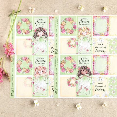 "The Flowers of Tomorrow ~ ""A la Carte"" Sticker Kit"