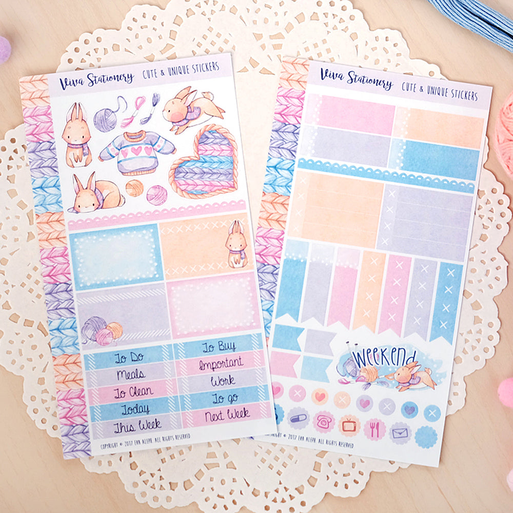 All you knit is love...  ~ Mini Sticker Kit for Planners
