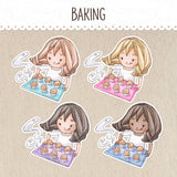 Baking Stickers ~Kawaii girl: Vera, Valerie and Violet~