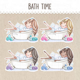 Bath Time Stickers ~Kawaii girls~