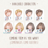 Board Games Stickers ~ Customizable Characters!