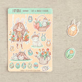 A Happy Easter Decorative Stickers ~Kawaii girl: Vera, Valerie, Violet, Vashti~