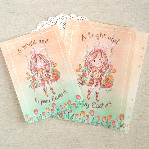 A Happy Easter ~ Printed Vellum for TNs and Ring Planners