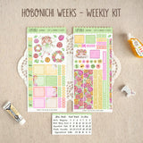 The Flowers of Tomorrow ~Hobonichi Weeks Sticker Kit ~ Customizable!