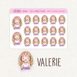 PC Gaming Stickers ~Kawaii girl: Vera, Valerie and Violet~