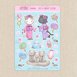 Hanami Cats Decorative Stickers