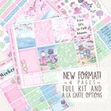 Hanami Cats  ~ Weekly Sticker Kit ~ Full and A La Carte Options