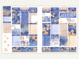 "Autumn Midnight ~ ""Full 6 Sheets"" Weekly Sticker Kit"