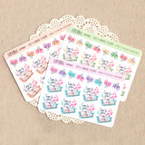 Time to Plan! Hand drawn decorative stickers ~ Planners and ribbon paper clips