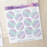 Round Doily Writting Boxes ~ Iridescent Special Colour