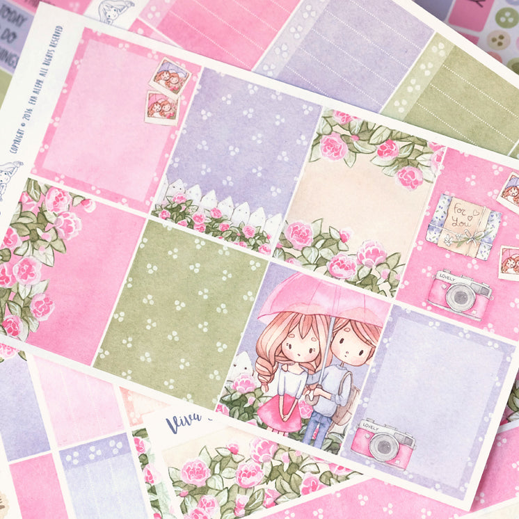 "Love Rain  ~ ""Full 6 Sheets"" Weekly Sticker Kit"