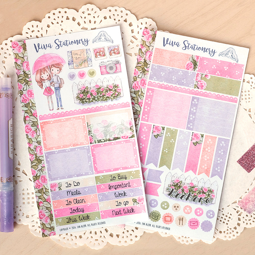 Love Rain ~ Mini Sticker Kit for Planners