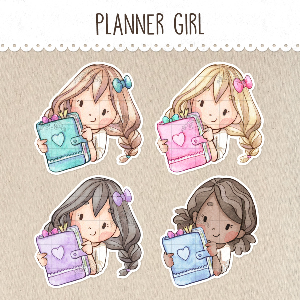 Planner Lover Stickers ~Kawaii Girls~
