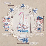 Die Cut Pack 7 pieces Cardboard or Sticker ~Sailor Cats