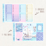 "Sailor Cats  ~ ""Full 6 Sheets"" Weekly Sticker Kit"