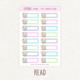 Student/Reader Slim Writing Box Stickers