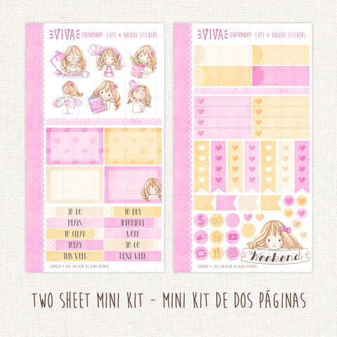 Valerie ~Mini Sticker Kit for planners
