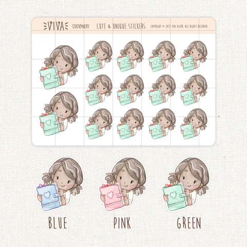 Planner Lover Stickers ~Kawaii Girl: Vashti~
