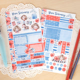 Bon Voyage Vivianne ~ Mini Sticker Kit for Planners