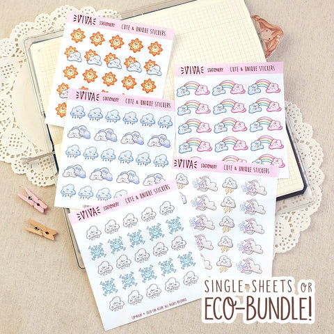 Weather Decorative Stickers ~ Mini sheets