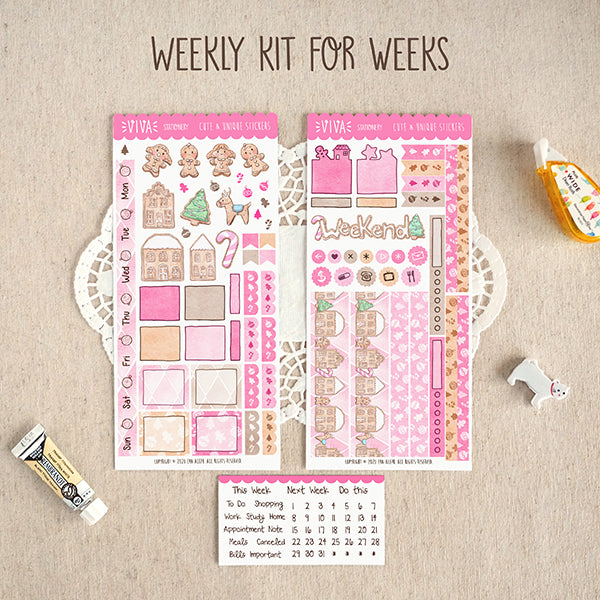 Sweet Christmas ~Hobonichi Weeks Sticker Kit ~