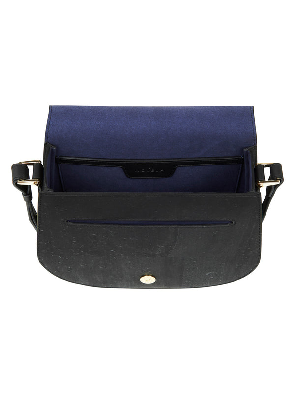 Sienna Shoulder - Black Leather and Cork