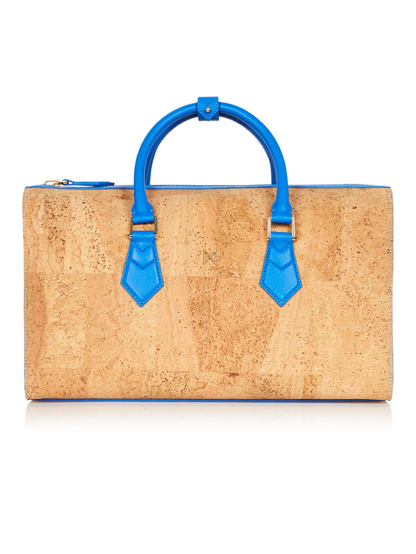 Catia Speedy - Aqua Blue Leather, Natural Cork
