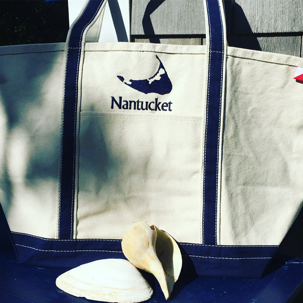 MEDIUM BOAT TOTE - NAVY